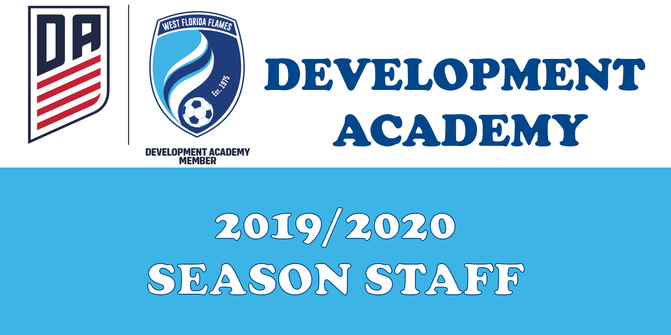 2019/2020 Season Boys and Girls Development Academy Staff